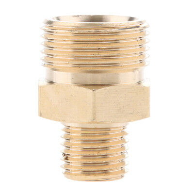 Pressure Washer Swivel Brass Hose Adapter Connector 22mm M to 14mm M #2