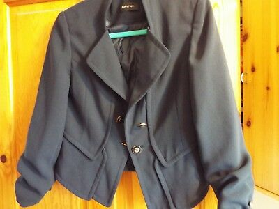 MARKS & SPENCER Autograph Suit Jacket SIZE UK 10 M&S Navy Blue