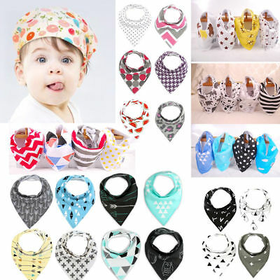 3Pcs/4Pcs Baby Kids Cotton Bandana Bib Feeding Saliva Towel Dribble Cloth Infant