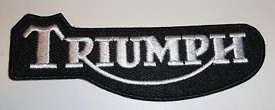 """Triumph Motorcycle Biker British Embroidered Patch~4 1/8"""" x 1 3/8""""~Iron Sew On"""