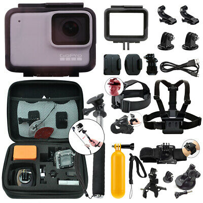 GoPro HERO7 White 10 MP Waterproof Camera Camcorder + Complete Action Bundle