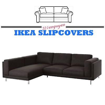IKEA NOCKEBY 3 Seat Sectional Sofa Left Chaise Slipcover ...