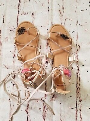 ab630ccc1faa Girls Art Class for Target Nadia Gladiator Ghillie Lace Up Sandals Size 3