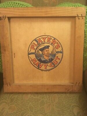 Players Navy Cut Wooden/card Advertising