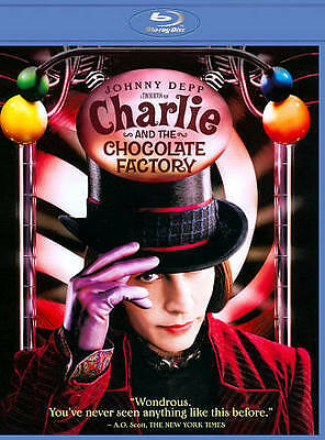 Charlie and the Chocolate Factory (Blu-ray Disc, 2011) Remake w/Johnny Depp