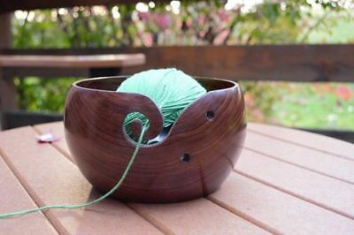 Yarn-Place Hand-Made Rose Wood Hand-Carved Bowl Set of 3 Pieces SAME SIZE