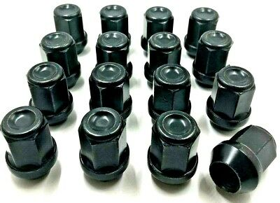 16 X Alloy Wheel Nuts Black For Chrysler 300C, M14 X 1.5,19Mm,bolts,lugs, (34)