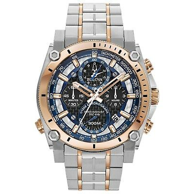 Bulova 98B317 Men's Chronograph Precisionist Two Tone Stainless Steel Watch