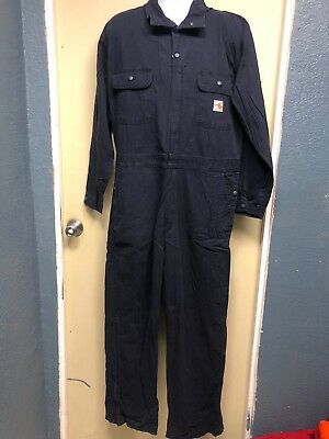 18ef2f08fa27 CARHARTT FRC FLAME Resistant Navy Work Coverall Size S-R -  31.99 ...