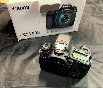 Canon EOS 80D DSLR, EF 75-300mm f/4, EF 18-55mm f/4. Kit and accessories