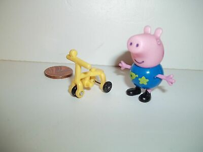 Peppa Pig Brother George & Bike Figure, Whole Set Listed, See Others & Combine