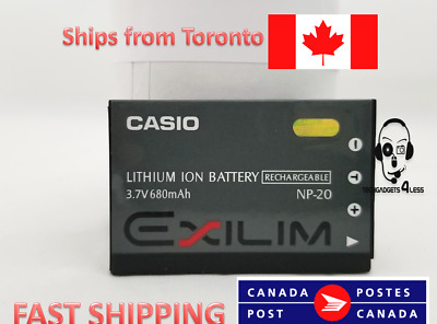 Casio Genuine NP-20 Lithium Ion Rechargeable Battery (3.7v 700mah)