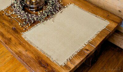 BURLAP PLACEMATS SET of 6 Neutral Country Kitchen Table ...