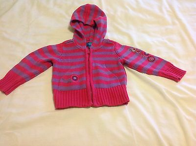 TCP Pink/Purple Striped Hooded Sweater....12 Months