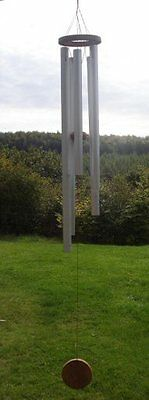 Fair Trade Wood & Metal windchime small or large 5 Lovely Chimes tinkles in Wind