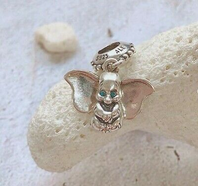 7269bd04d 925 Sterling Silver DUMBO Floating Pandora CHARM Bead Disney Blue Eyes NEW