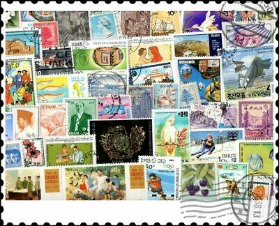 Asia Continent : 200 Different Stamps Collection