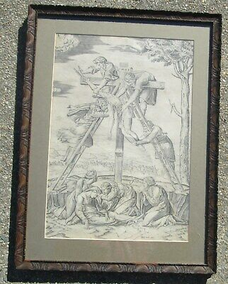 """Antique16th Cent Engraving""""Descent From The Cross"""" Antonio Salamanaca MAKE OFFER"""