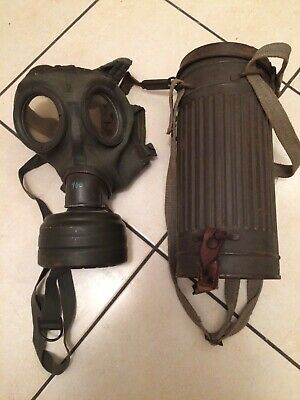 WWII M30 maschera antigas tedesca Gas Mask German Canister M30 ORIGINAL