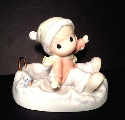 """Vintage 1996 Precious Moments """"Angels On Earth"""" #183776 Porcelain Figurine"""