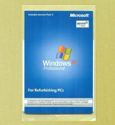 New Windows XP Professional SP3 Install Reinstall Disc Recovery Repair CD No Key