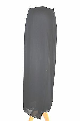 5df537698b DOLCE & GABBANA Wrap around Black Chiffon Long Skirt Size 40 ...
