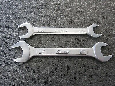 """A.B.C. - OPEN ENDED WRENCHES 19/32""""  &  11/16"""" and 9/16"""" & 1/2"""" - MADE IN JAPAN"""