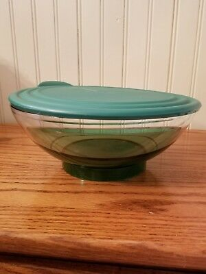 NEW Tupperware Sheerly Elegant Serving Bowl Emerald Green W Lid 1.5 L 6 1/3 Cup