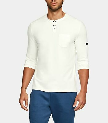 2891ab86 Under Armour Unstoppable Knit ¾ Utility Henley Mens Shirt 1317916-996 NWT  3XL