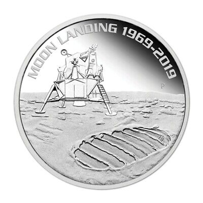 2019 50th Anniversary of the Moon Landing 1oz Silver Bullion Coin