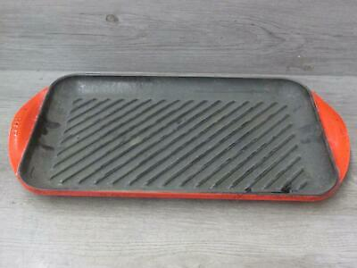 Le Creuset Red Enamel Cast Iron Grill Pan 40