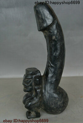 Chinese Hong shan Culture Stone Sun God People Genital Organ Reproductive Statue