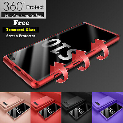 For Samsung Galaxy S8 S9 S10 Plus 360° Shockproof Case Cover + Screen Protector