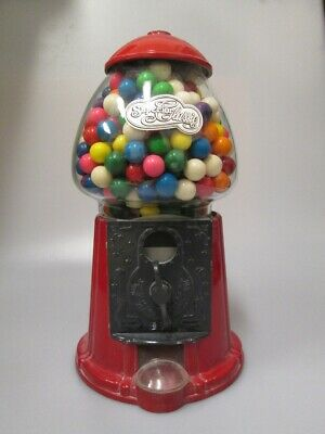 VINTAGE GUM BALL MACHINE Stand Alone or Pole SUPERIOUR CLASSIC Red and Black