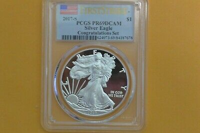 2017 S Silver Proof American Eagle PCGS PR 69 DCAM First Strike (Congrats Set)