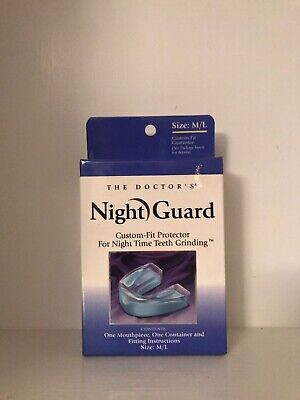 The Doctor's Night Guard Custom-Fit Protector For Night Time Teeth Grinding -M/L