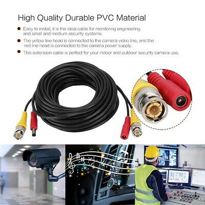 Security Camera Cable CCTV Video Power Wire BNC RCA Cord DVR 30/50/60/100Ft lot