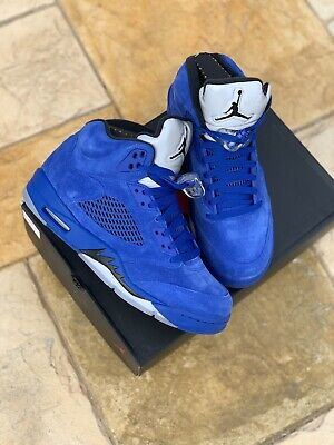 7f730e35efe DS NIKE AIR Jordan 5 V 12 Retro Blue Suede Sz 9 Flight Supreme 11 1 ...