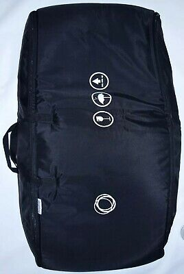 Large Bugaboo Black Padded Travel Bag Chameleon Bee Frog Airport Transport