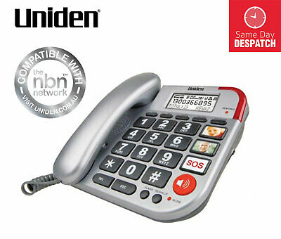 Uniden Sse33 Sound Enhanced Corded Telephone Works In Outages  Same Day Despatch
