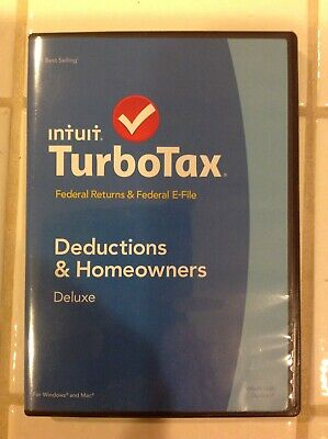 Intuit TurboTax 2014 Deductions & Homeowners Deluxe for Windows & Mac