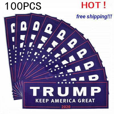100x Donald Trump For President 2020 Bumper Sticker Keep Make America Great EN