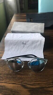 9446b91275a7 AUTHENTIC CHRISTIAN DIOR SO REAL SUNGLASSES SILVER With BOX CASE ...