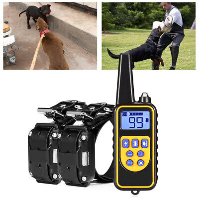 Petrainer Dog Training Shock Collar LCD Electric Remote Waterproof Rechargeable
