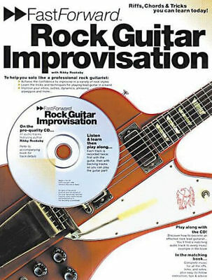 Fast Forward: Rock Guitar Improvisation Rikky Rooksby 2000 CD & Songbook Tabs