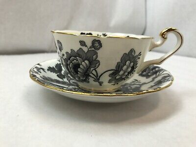 VICTORIA CARTWRIGHT and EDWARDS Bone China TEA CUP and SAUCER with Floral Design