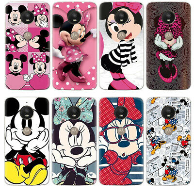 Disney Minnie Mickey Soft Cover Case For Motorola Moto E5 Play G3 G4 G5 G6 Z3