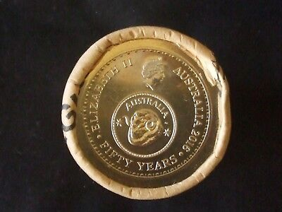 2016 50 Years Of Decimal Currency 50 Cent Coin Mint Roll
