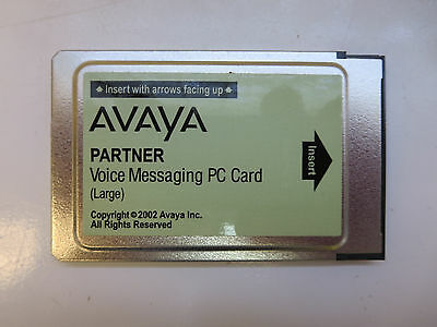 Avaya Partner Large Card VM Voicemail for ACS - TESTED / DEFAULTED TO FACTORY