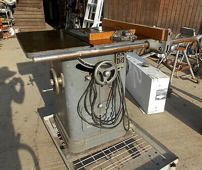 Delta Unisaw Rockwell 10 Table Saw 34-450, Wired For 110 Volt Electric
